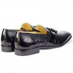 Diego Tassel Loafers Black